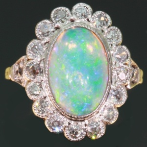 opal engagement ring - Opal Wedding Ring Sets
