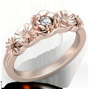 krikawa floral wedding ring