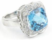 about topaz engagement rings