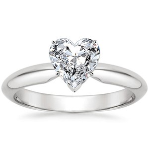 heart shaped engagement rings the handy guide before you buy - Heart Wedding Ring Set