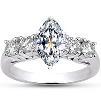 trellis marquise diamond ring