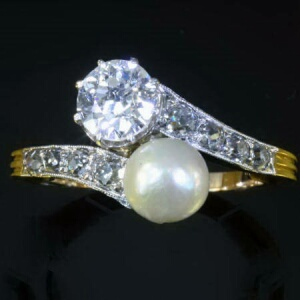 Find Estate Vintage And Antique Pearl Engagement Rings At Adin Fine Jewelry