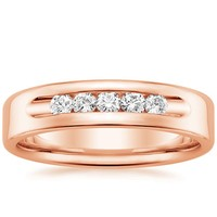 top brilliant earth rose gold wedding ring picks - Mens Rose Gold Wedding Rings
