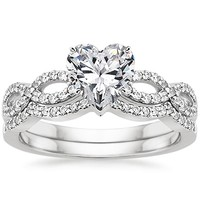 Take A Look At Heart Engagement Ring And Wedding Set Collections By Brilliant Earth