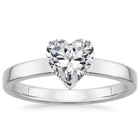 take a look at heart engagement ring and wedding set collections by brilliant earth like these below - Heart Shaped Wedding Rings