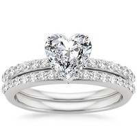 Take A Look At Heart Engagement Ring And Wedding Set Collections By Brilliant Earth Like These Below