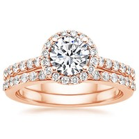 top brilliant earth rose gold wedding ring picks - Rose Gold Wedding Ring Set