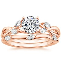 gold wedding bands and engagement rings a handy guide before you buy - Rose Gold Wedding Ring Set