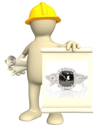 about black diamond wedding rings