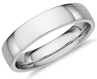 The platinum wedding band the handy guide before you buy mens low dome 5mm comfort fit platinum wedding band by blue nile junglespirit Image collections