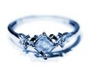 blue diamond engagement ring