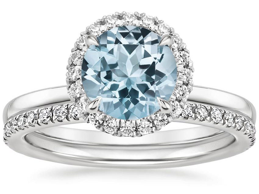 Aquamarine Engagement Rings And Wedding Bands The Handy
