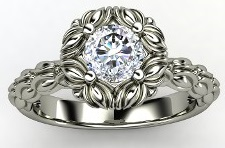 antique engagement ring style wedding