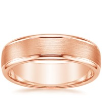 top brilliant earth rose gold wedding ring picks - Gold Wedding Rings For Men