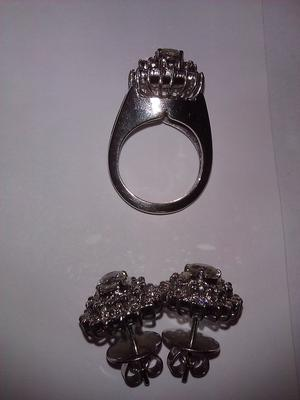 Vintage Ring and Earring Set