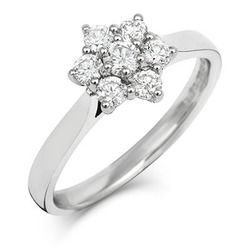 cred cluster engagement ring