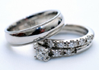 rhodium plate wedding rings