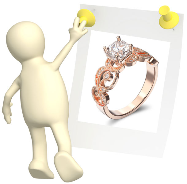 about rose gold engagement rings