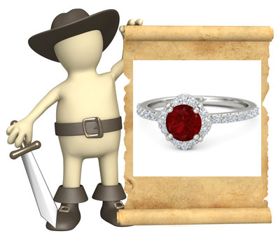 ruby wedding rings