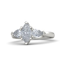 14k diamond marquise engagement ring