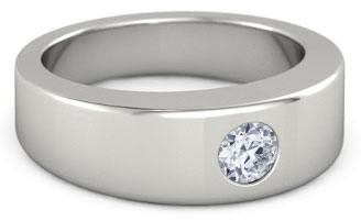 Men S Diamond Palladium Wedding Band By Gemvara