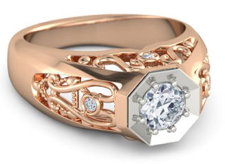 Rose Gold Engagement Rings And Wedding Bands The Handy