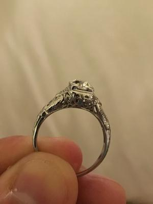 help finding history background for estate engagement ring - Estate Wedding Rings