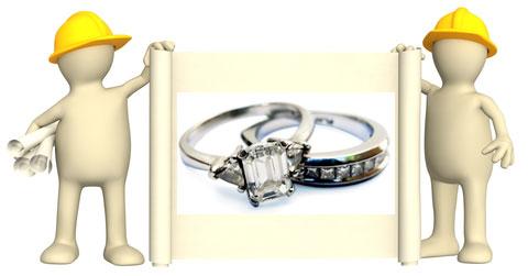 moissanite wedding sets