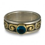 reflective images celtic wedding ring