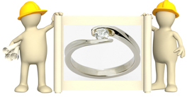 tension set engagement rings