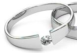 tension set wedding rings
