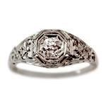 used diamond vintage ring