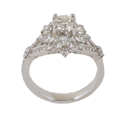 cubic zirconia bridal ring