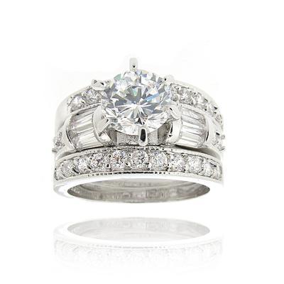 rhodium plated brass ring