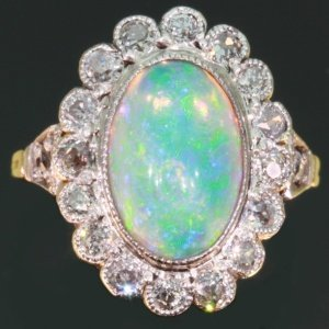 opal engagement ring - Opal Wedding Ring Sets