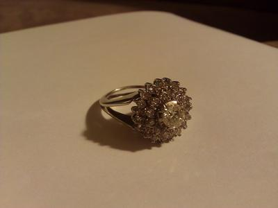 confused is this an art deco ring can it be used as an enement ring - Used Wedding Rings