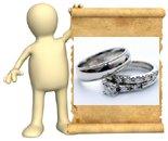 14k white gold wedding rin