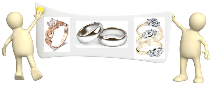 about gold wedding bands