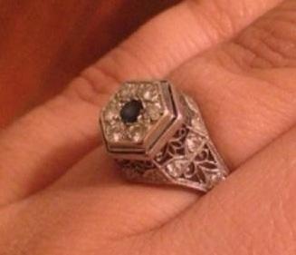 Date of platinum antique ring?